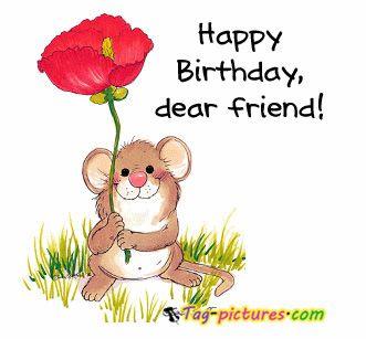 Cute Happy Birthday wish for you ♥