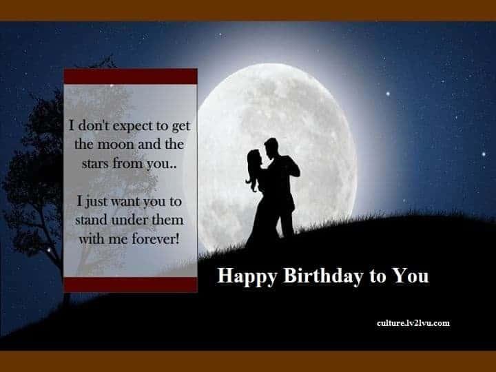 ♥ Romantic Happy Birthday wish ♥