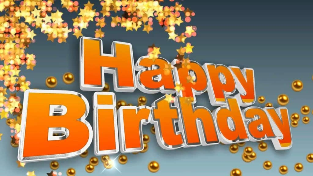 Artistic Happy Birthday wishes image