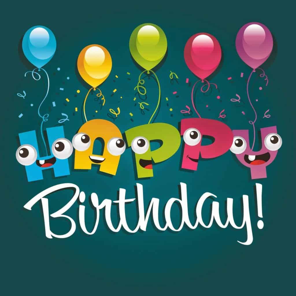 Happy Birthday Greeting Card Design Funny cartoon Characters