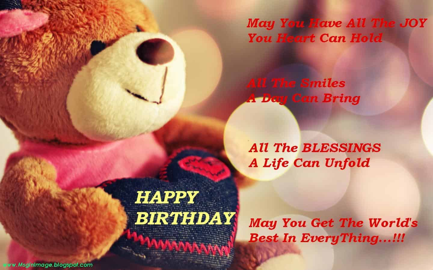 This teddy is for you! Happy Birthday dear ♥