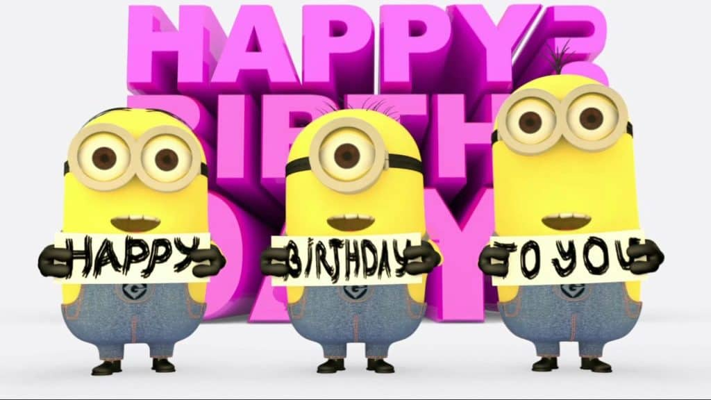 Minions Happy birthday wish image
