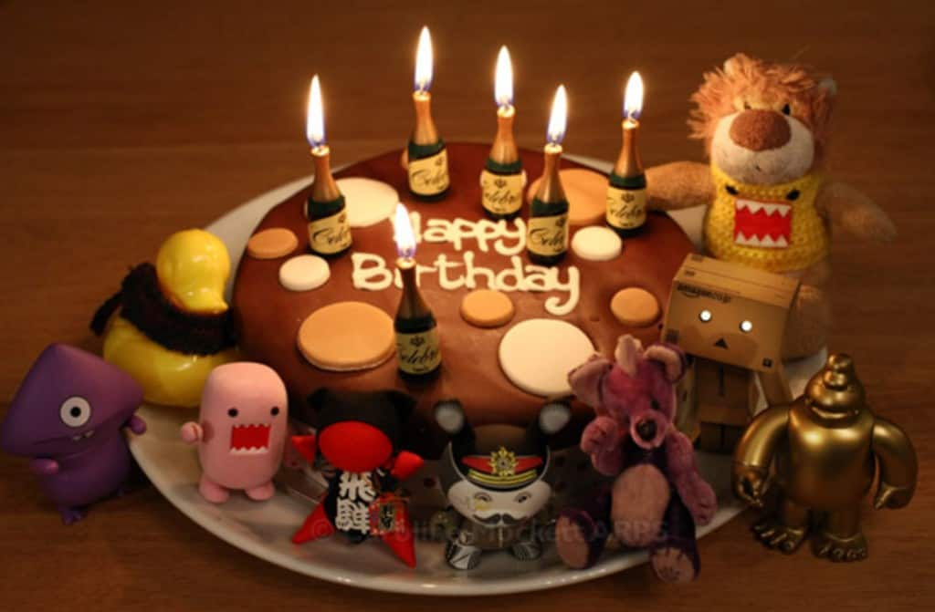 Cute toys Birthday wishes Cake.
