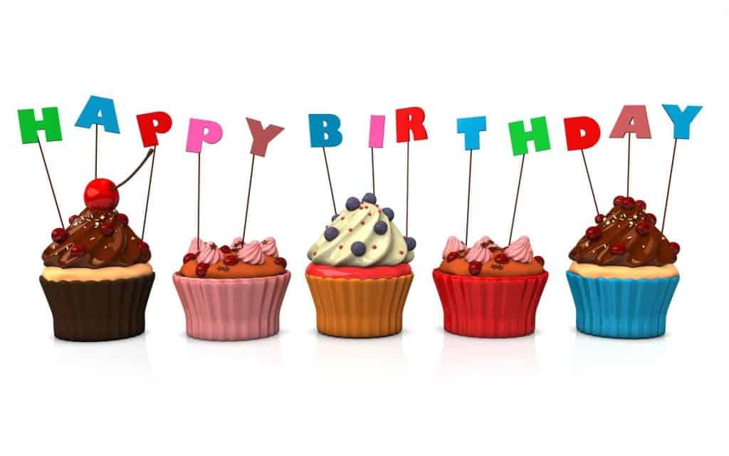 Beautiful Happy Birthday Cupcake.