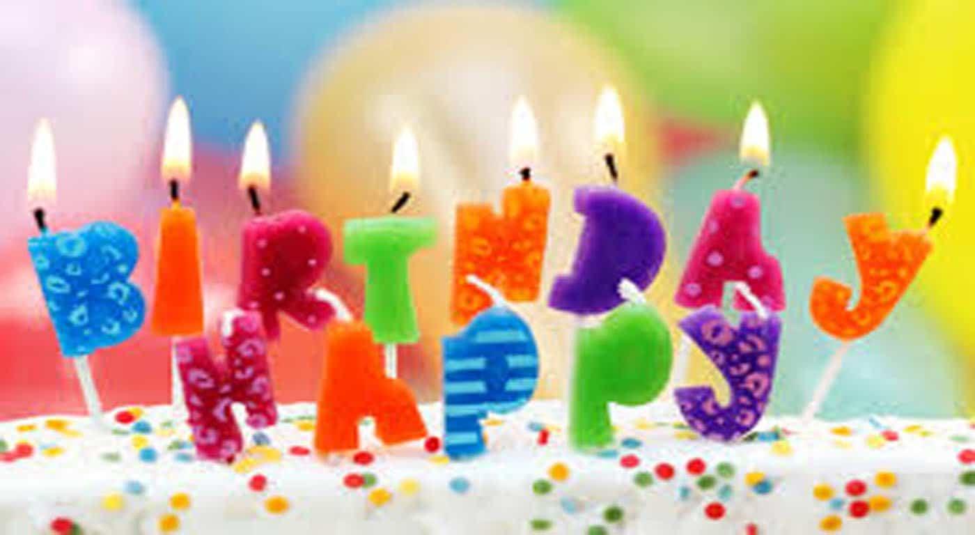 Happy Birthday With Light.