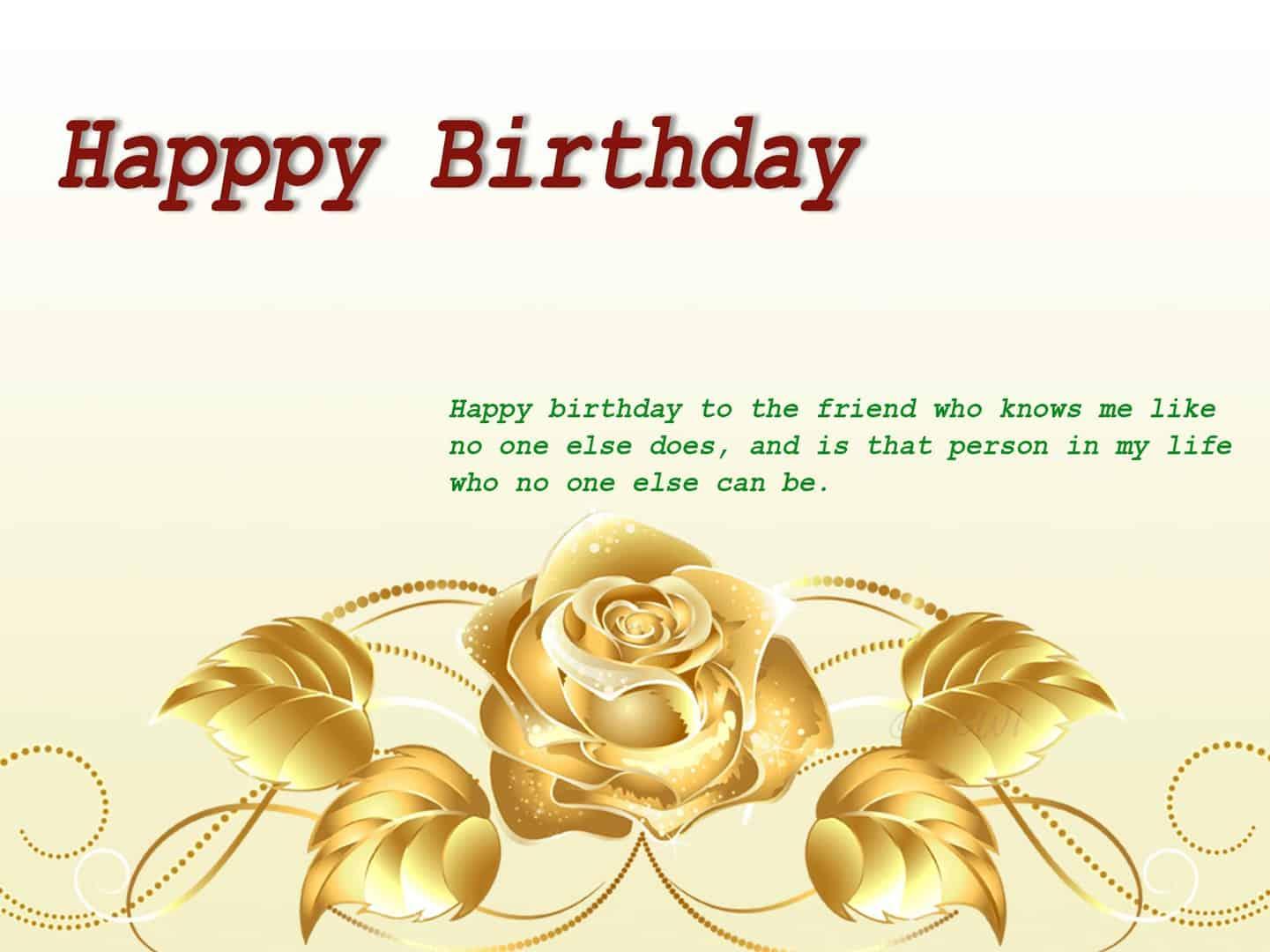 Golden Rose happy birthday image