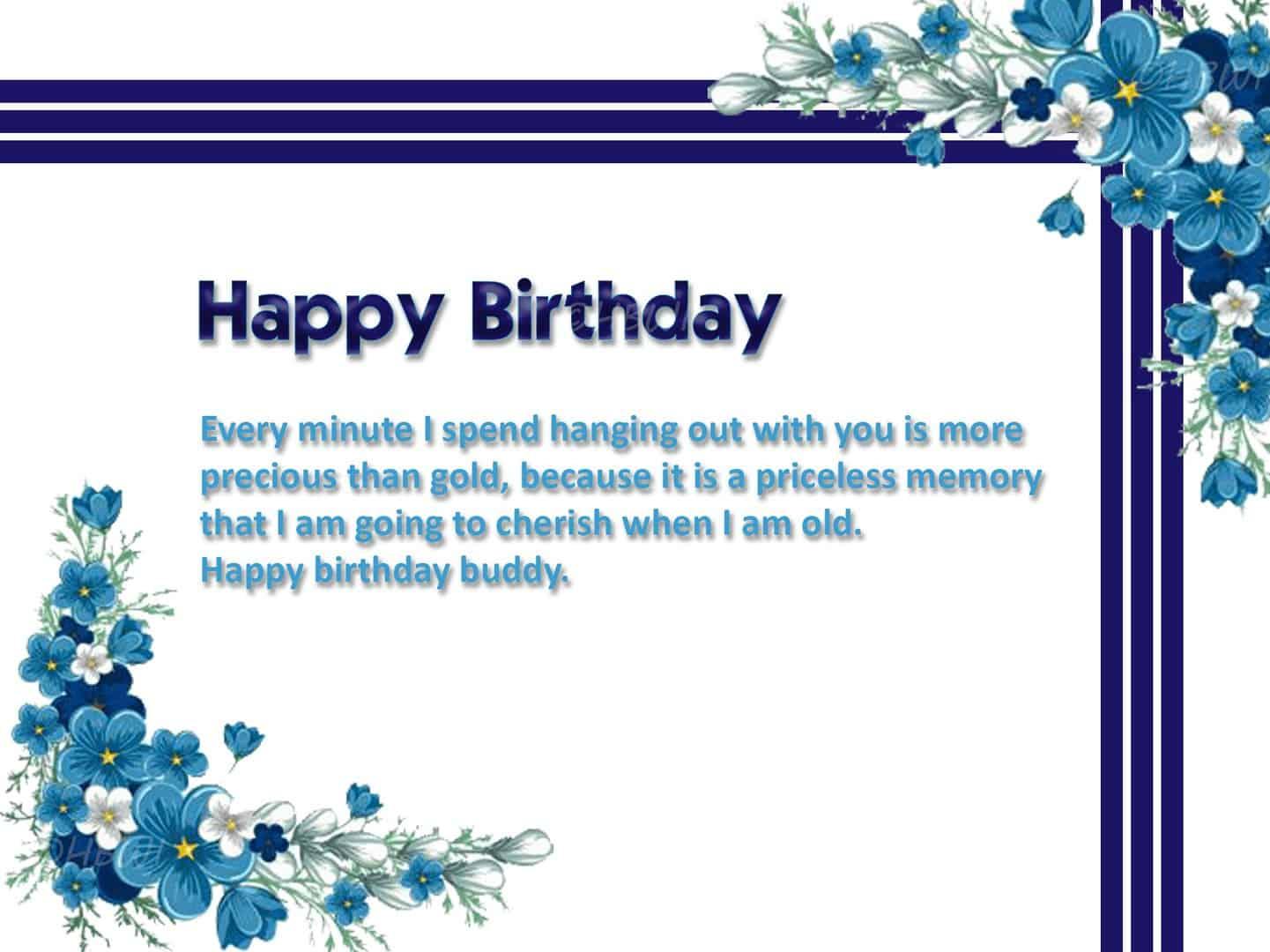 Simple but beautiful birthday wish card