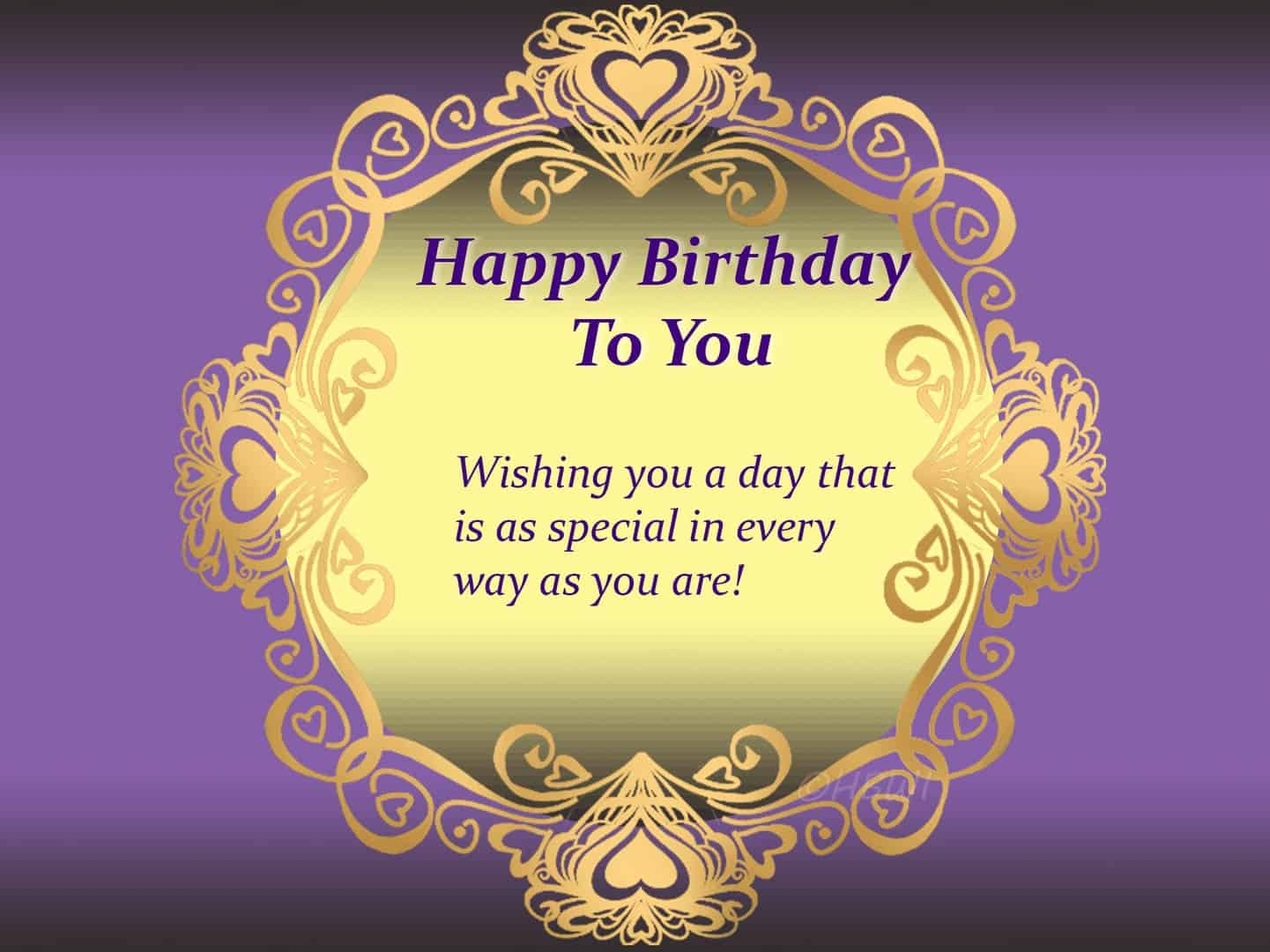 Special Happy birthday to you card frame