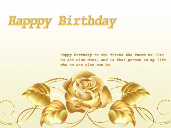 Wish a exclusive happy birthday wish golden rose