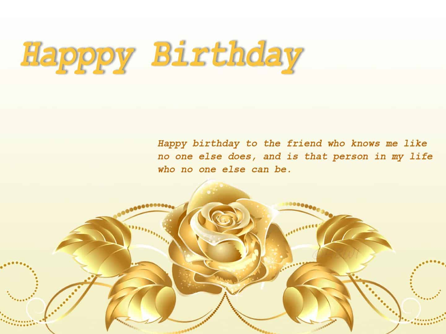 Wish an exclusive happy birthday with golden rose